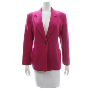 Oleg Cassini Fuchsia Wool Blend Coat